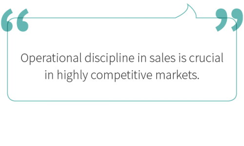 Operational discipline in sales