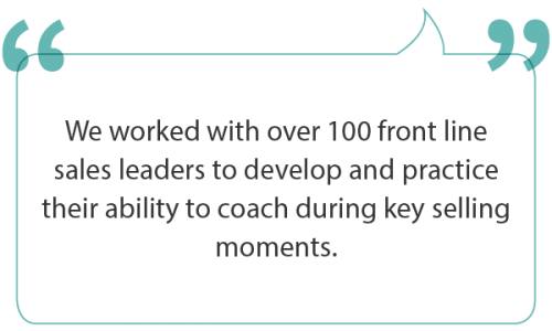 Expanding sales managers coaching skills