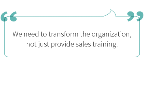 call out on sales transformation