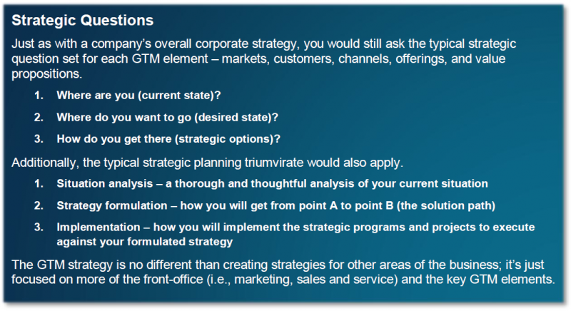 Strategic questions for go-to-market